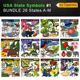 USA state symbols clipart BUNDLE-part #1