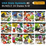 USA state symbols clipart BUNDLE-part #2