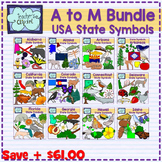 USA state symbols clipart BUNDLE - A to M - Social Studies Clip art