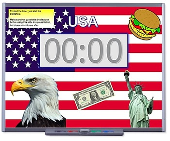 5 minute activity timer (U.S.A Themed)