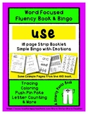 USE - Word Fluency Book & Emotion Bingo - Sight Word Focus