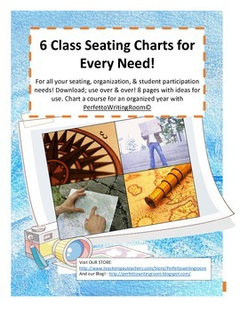 Beginning of the Year Seating Charts, Beautiful, Useful!!