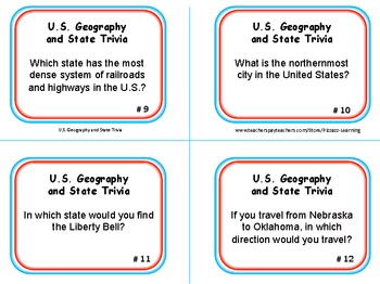 U.S.GEOGRAPHY and STATE TRIVIA
