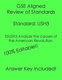 SSUSH3 GSE Editable Study Guide Review Causes of American