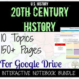 US History Digital Interactive Notebooks 10 Sets! Gilded Age to Cold War BUNDLE