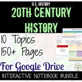 US History Digital Notebook Bundle Gilded Age to Cold War