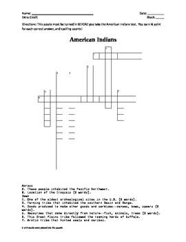 USI.3 American Indians Crossword