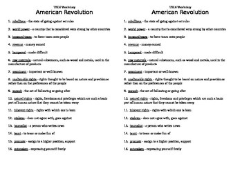 USI.6 American Revolution Guided Notes