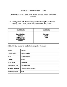 USII.7a Worksheet