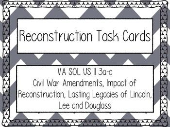 USII Reconstruction Task Cards