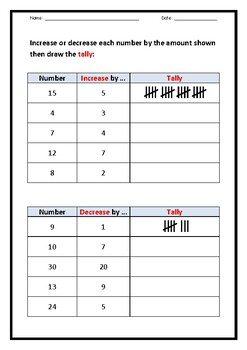 USING A TALLY  (4-page booklet)
