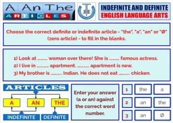 USE OF ARTICLES IN A SENTENCE: LESSON & RESOURCES