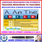 USE OF ARTICLES IN A SENTENCE: LESSON AND RESOURCES