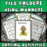 USING MANNERS File Folder Activities: Special Education, Autism, Aspergers