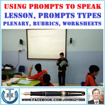 USING PROMPTS TO SPEAK: LESSON AND RESOURCES