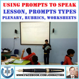 SPEAKING USING PROMPTS LESSON AND RESOURCES