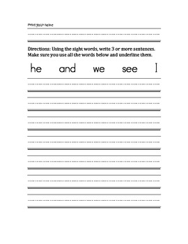 USING SIGHT WORDS IN CONTEXT