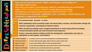 USING TEXTUAL PROMPTS TO WRITE: LESSON PRESENTATION