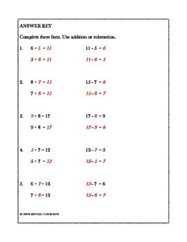 USING THE RELATIONSHIP BETWEEN ADDITION AND SUBTRACTION