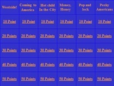 US/Modern World History Jeopardy: American West-Progressivism