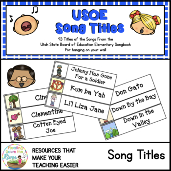 USOE Elementary Music Song Titles