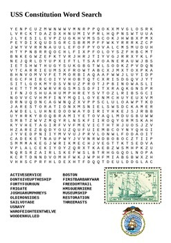 USS Constitution Word Search