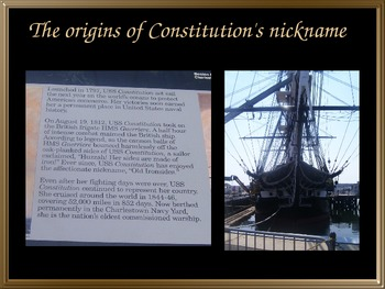 U.S.S Constitution or Old Ironsides PowerPoint Virtual Tour: (War of 1812)