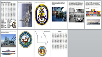 USS Missouri Word Search