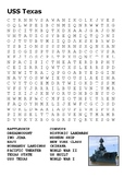 USS Texas Word Search