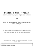 USSR - Soviet Show Trials - Research and Presentation