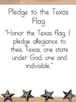 US/Texas Pledge Posters