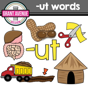 UT Word Family Clipart - CVC Clipart