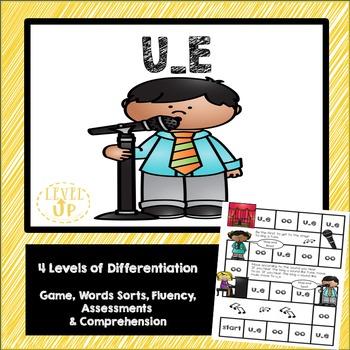 U_E Phonics Game and Word Sort