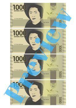 Indonesian Money Uang-uangan IDR Indonesian Rupiah (Play Money)