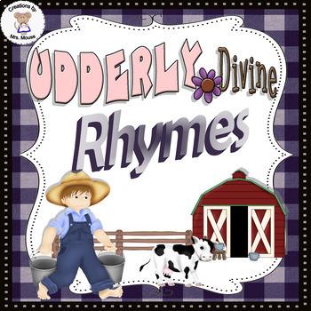 Phonemic Awareness- Rhyming - Udderly Divine