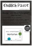 """Übungs- und Wiederholungsheft """"Wortarten"""""""