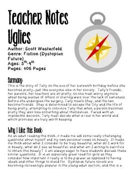 Uglies Book Club (Dystopian Fiction Novel Study, Vocabulary, Questions, Project)