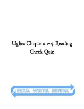 Uglies Quiz Chapters 1-4