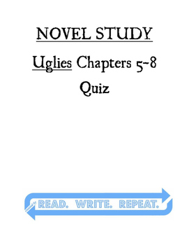 Uglies Quiz Chapters 5-8
