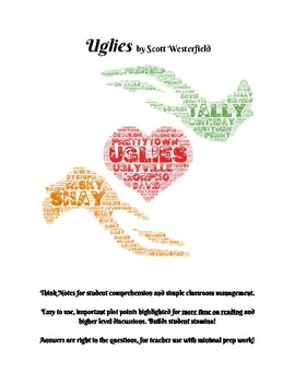 Uglies by Scott Westerfield Comprehension Questions & Pacing