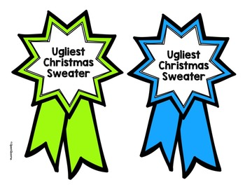 Ugly Christmas Sweater Craft {Speech/Language Activity Homework Included}
