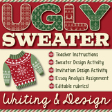 Ugly Christmas Sweater: Décor and Party Invitation Writing and Design Activity