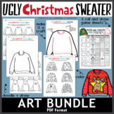 Ugly Christmas Sweater Art Bundle + Bonus Files
