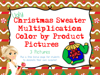 Ugly Christmas Sweater Color by Product Multiplication