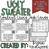 Ugly Christmas Sweater Context Clues Task Cards