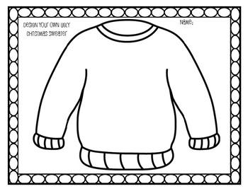 Ugly Christmas Sweater Craftivity