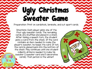 Reinforcement Game: Ugly Christmas Sweater