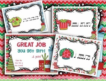 Ugly Christmas Sweater Interactive Rhythm Games {Bundle}