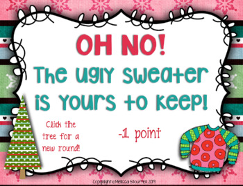 Ugly Christmas Sweater Interactive Game {Do Mi Sol La}