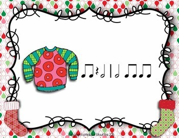Ugly Christmas Sweater Interactive Game {Half Note}